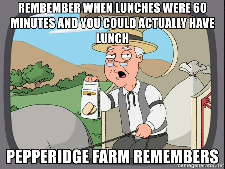 Family Guy Pepperidge Farm - Rembember when lunches were 60 minutes and you could actually have lunch Pepperidge farm remembers