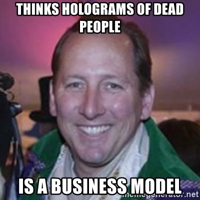 Pirate Textor - THINKS HOLOGRAMS OF DEAD PEOPLE IS A BUSINESS MODEL