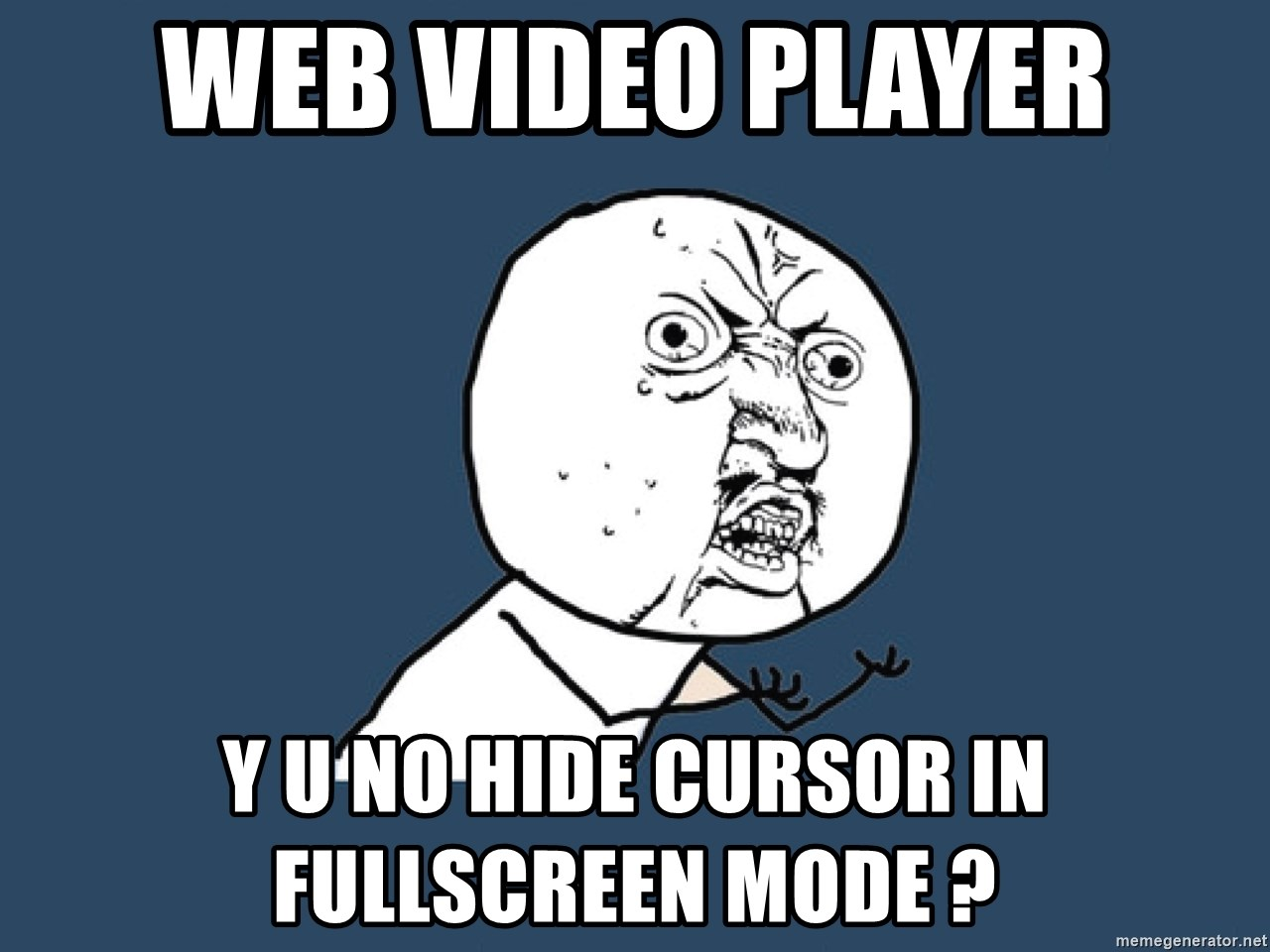 Y U No - Web video player Y U NO Hide cursor in fullscreen mode ?