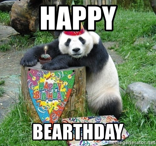 Happy Birthday Panda - Happy Bearthday
