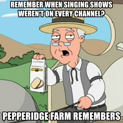 Pepperidge Farm Rememberss - Remember when singing shows weren't on every channel? Pepperidge farm remembers