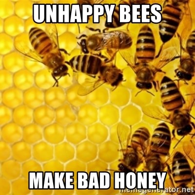 Honeybees - unhappy bees make bad honey