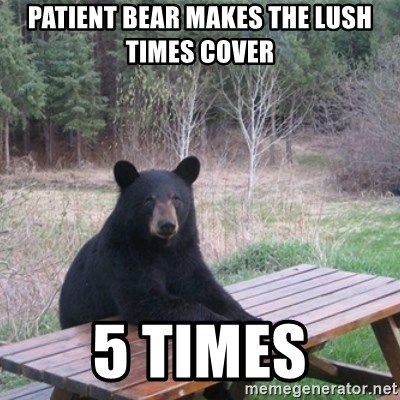 Patient Bear - patient bear makes the lush times cover 5 times