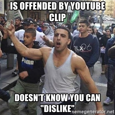 """Western Muslim Protestor - is offended by youtube clip doesn't know you can """"dislike"""""""
