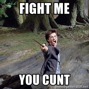 Pissed off Harry - fight me you cunt