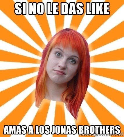 Hayley Williams - si no le das like amas a los jonas brothers