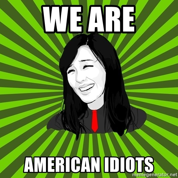 green fan - We are american idiots