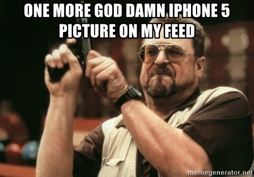 Walter Sobchak with gun - one more god damn iphone 5 picture on my feed