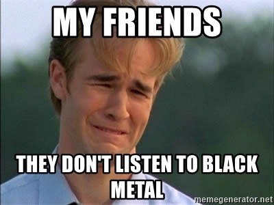 James Van Der Beek - My friends They don't listen to black metal