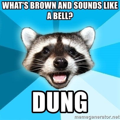 Lame Pun Coon - WHAT'S BROWN AND SOUNDS LIKE A BELL? DUNG