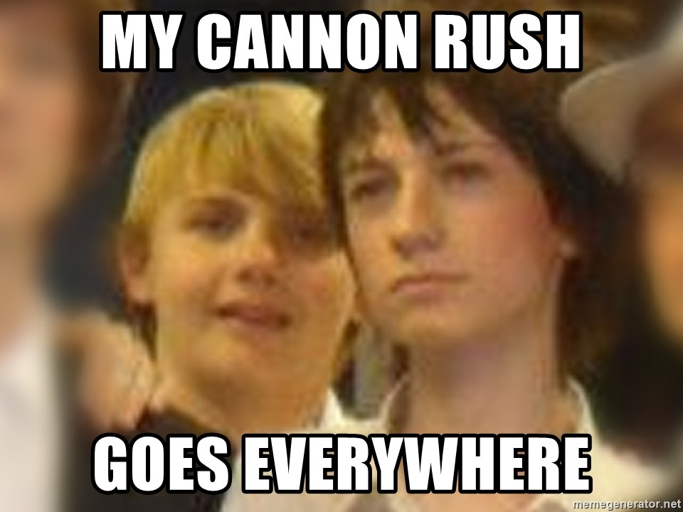 Thoughtful Child - my cannon rush goes everywhere