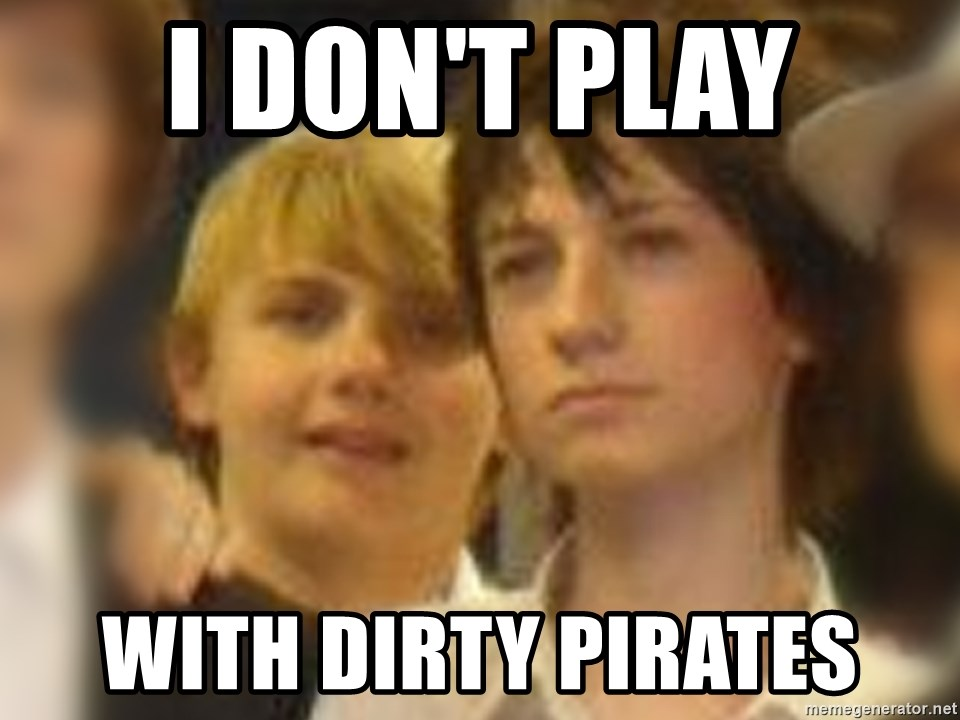Thoughtful Child - i don't play with dirty pirates
