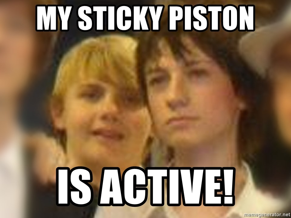 Thoughtful Child - My sticky piston is active!