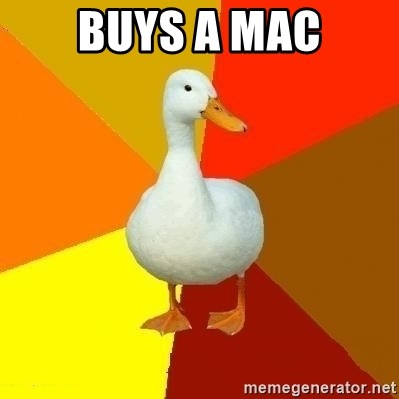 Technologically Impaired Duck - Buys a Mac