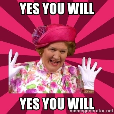 Hyacinth Bucket - yes you will yes you will