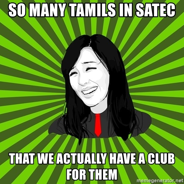 green fan - so many tamils in satec  that we actually have a club for them