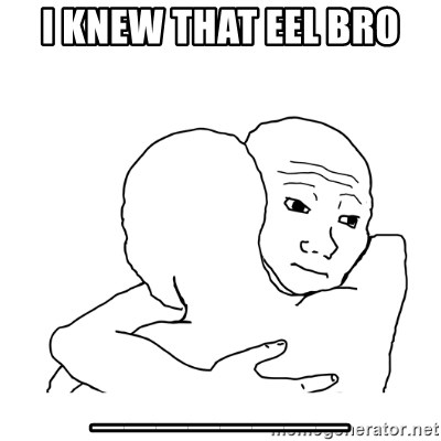 I know that feel bro blank - I knew that eel bro ________