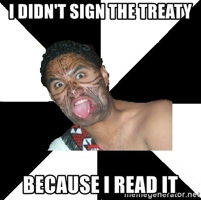 Maori Guy - I DIDN'T SIGN THE TREATY BECAUSE I READ IT