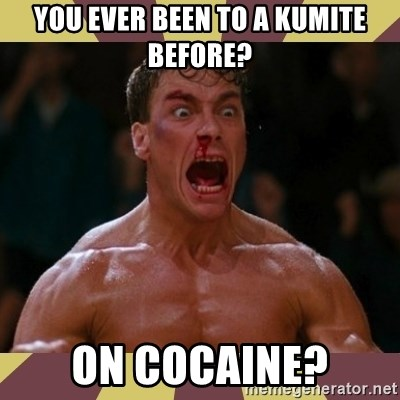 jean claude van damme - you ever been to a kumite before? on cocaine?
