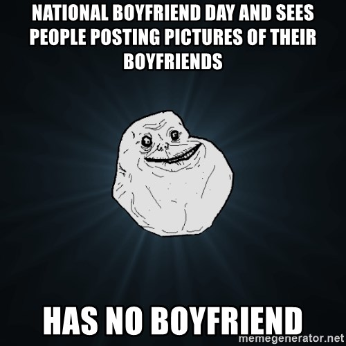 National boyfriend day and sees people posTIng pictures of