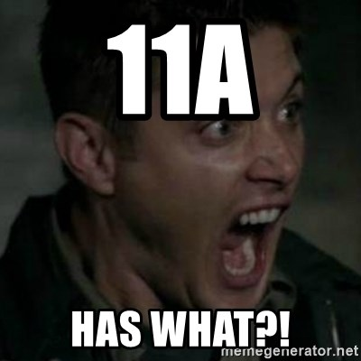 Supernatural Dean Face - 11A HAS WHAT?!