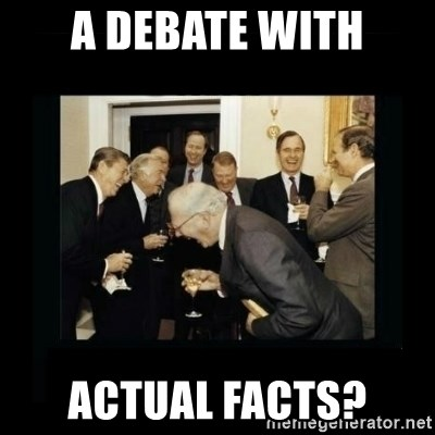 Rich Men Laughing - A debate with actual facts?