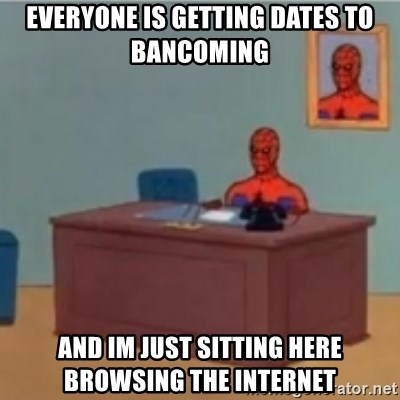 60s spiderman behind desk - Everyone is getting dates to bancoming and im just sitting here browsing the internet