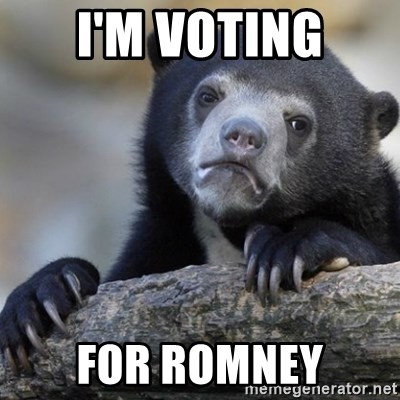 Confession Bear - I'm Voting for romney