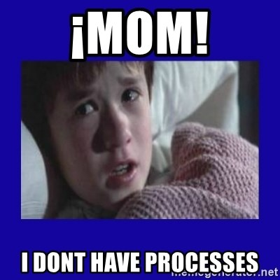 Sexto Sentido - ¡mom! i dont have processes