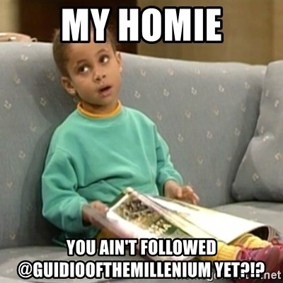 Olivia Cosby Show - My homie You ain't followed @guidioofthemilleNium yet?!?