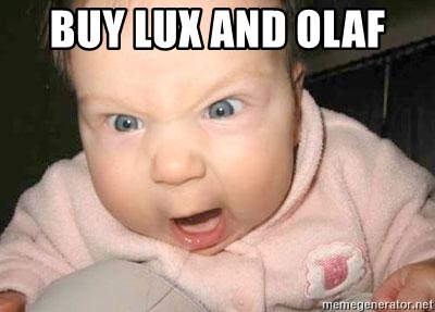 Angry baby - buy lux and olaf