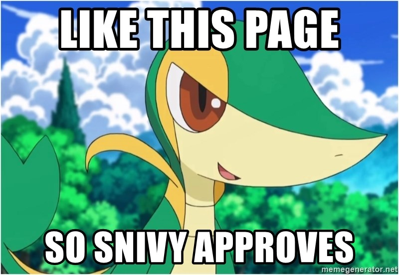 Snivy - Like this page so snivy approves