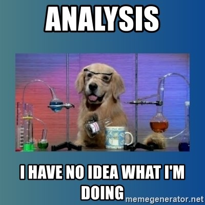 Chemistry Dog - AnalysiS I have No idea what i'm doing