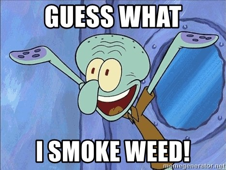 Guess What Squidward - guess what i smoke weed!