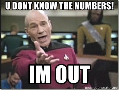 star trek wtf - u dont know the numbers! im out