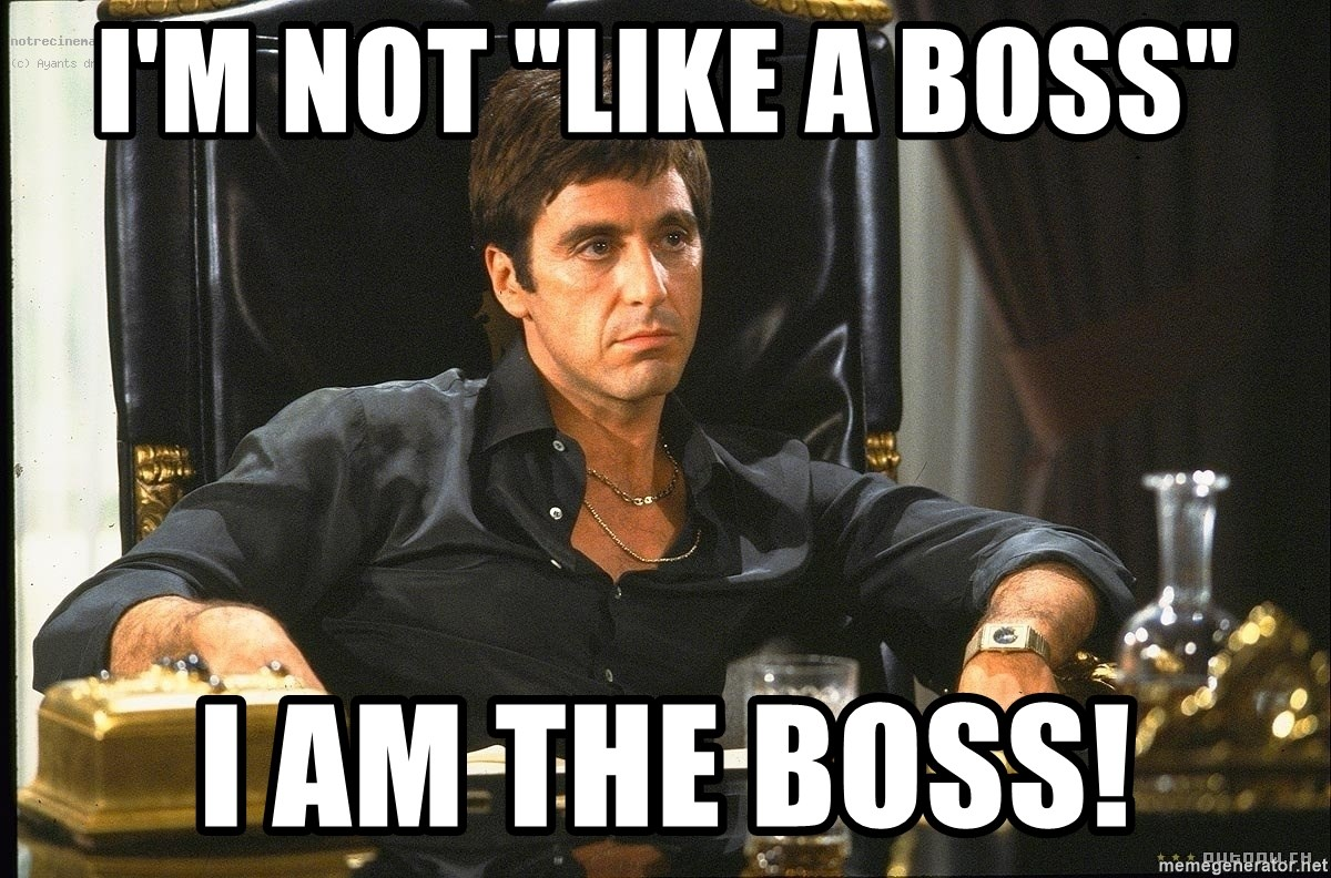"Scarface - I'm not ""like a boss"" I am the boss!"