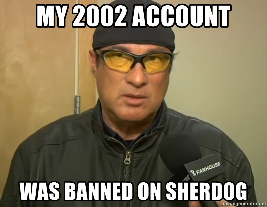 Steven Seagal Mma - My 2002 account was banned on sherdog