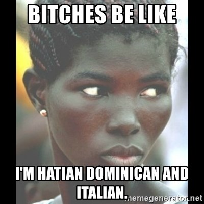bitches be like  - BiTChes Be like I'M hatian Dominican and italian.