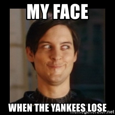 Tobey_Maguire - My face when the yankees lose