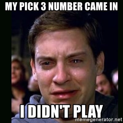 crying peter parker - My pick 3 number came in i didn't play