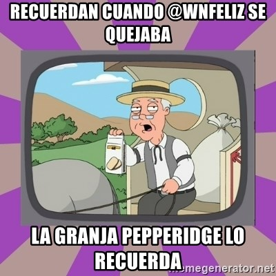 Pepperidge Farm Remembers FG - Recuerdan cuando @wnfeliz se quejaba la granja Pepperidge lo recuerda