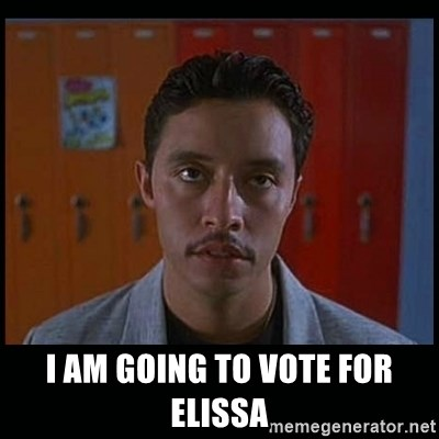 Vote for pedro - i am going to vote for elissa