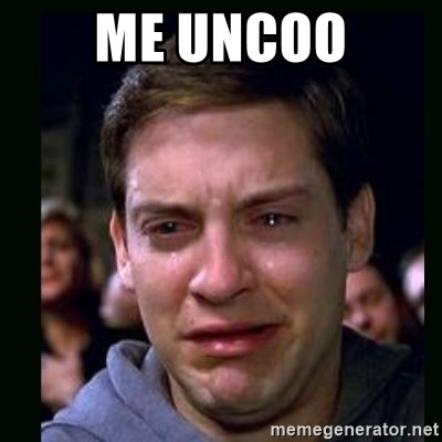 crying peter parker - ME UNCOO