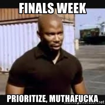 James Doakes surprise - finals week prioritize, muthafucka