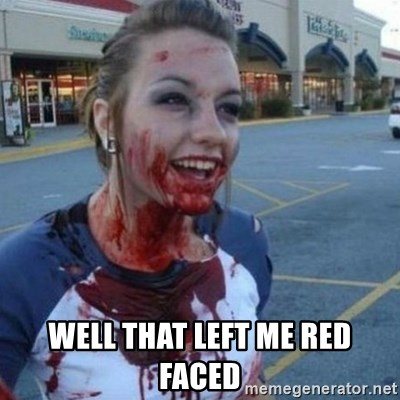 Scary Nympho - Well that left me red faced
