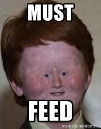 Generic Ugly Ginger Kid - must feed