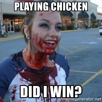 Scary Nympho - Playing chicken Did I win?