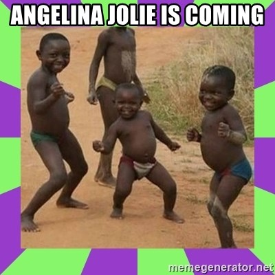 african kids dancing - Angelina jolie is coming