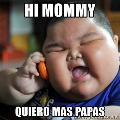 fat chinese kid - HI MOMMY  QUIERO MAS PAPAS