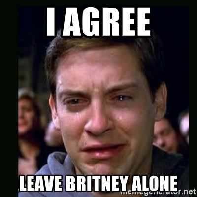 crying peter parker - I AGREE LEAVE BRITNEY ALONE